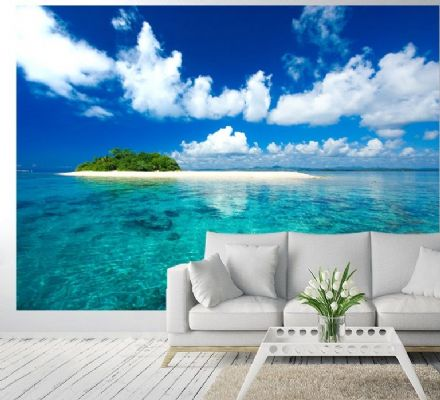 Tropical island Vacation paradise wall mural